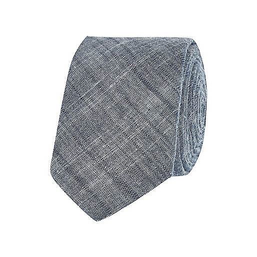 Blue cross hatch tie