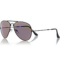 Black foldable aviator sunglasses