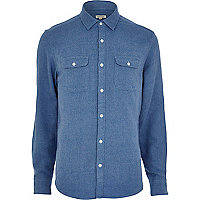 Light blue flannel long sleeve shirt