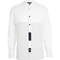 White Holloway Road scissor print shirt