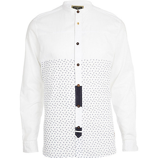 White Holloway Road scissor print shirt