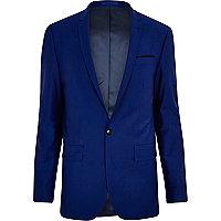 Cobalt blue skinny suit jacket