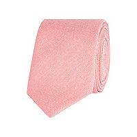 Light pink textured tie