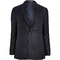 Navy blue skinny suit jacket