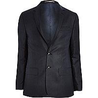 Navy blue skinny suit jacket