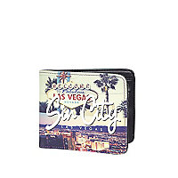 Ecru Sin City print wallet