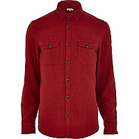 Red flannel long sleeve shirt
