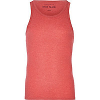 Red marl rib vest