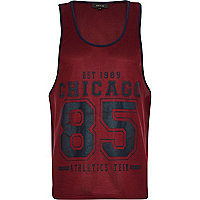 Dark red Chicago 85 mesh vest