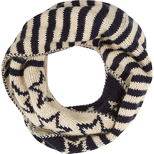 Navy stars and stripes snood