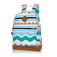 Ecru aztec print backpack