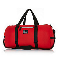Red neoprene holdall