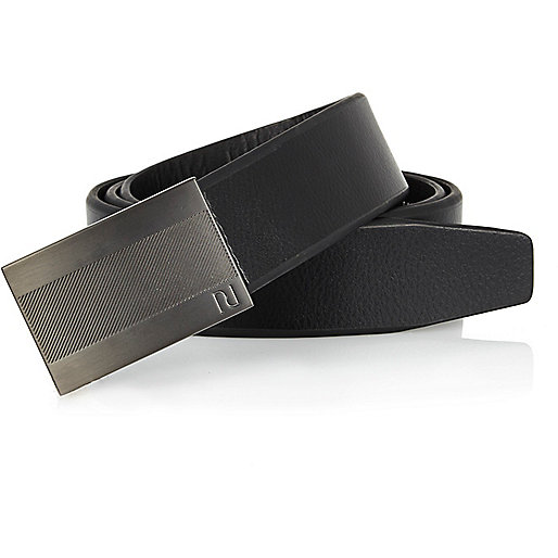 Black RI plate buckle belt