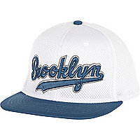 White Brooklyn trucker hat