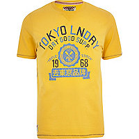 Yellow Tokyo Laundry dry good supply t-shirt