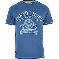 Blue Tokyo Laundry dry good supply t-shirt