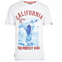 White Tokyo Laundry perfect surf t-shirt
