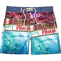 Blue Tokyo Laundry photo print shorts