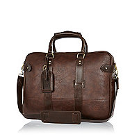 Dark brown holdall bag