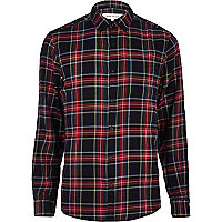 Black tartan long sleeve shirt