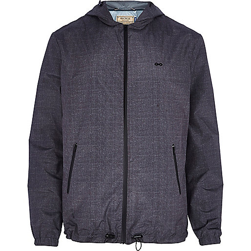 Dark grey RI Cycle hooded jacket