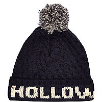Navy Holloway Road beanie hat