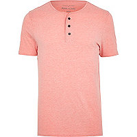 Light pink grandad t-shirt