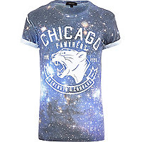 Blue Chicago Panthers print t-shirt