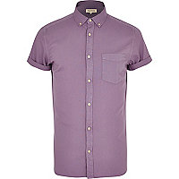 Lilac short sleeve Oxford shirt