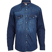 Mid wash Jack & Jones Vintage denim shirt
