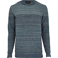 Navy Jack & Jones Premium stripe jumper