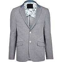 Grey Vito contrast collar blazer