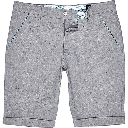 Grey Vito turn up shorts