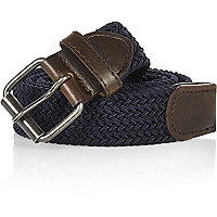 Navy blue webbing belt