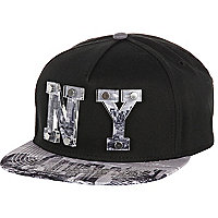 Black perspex NY trucker hat