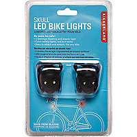 Black skull LED bicycle lights