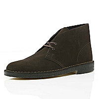 Brown Clarks Originals suede desert boots