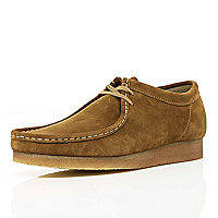 Tan Clarks Originals suede Wallabees