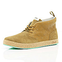 Tan Clarks hybrid Tanner high tops