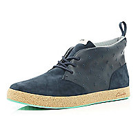 Navy Clarks hybrid Tanner high tops