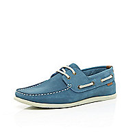 Light blue boat shoes