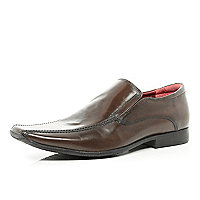 Brown square toe formal shoes