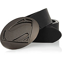 Black Superman plate belt