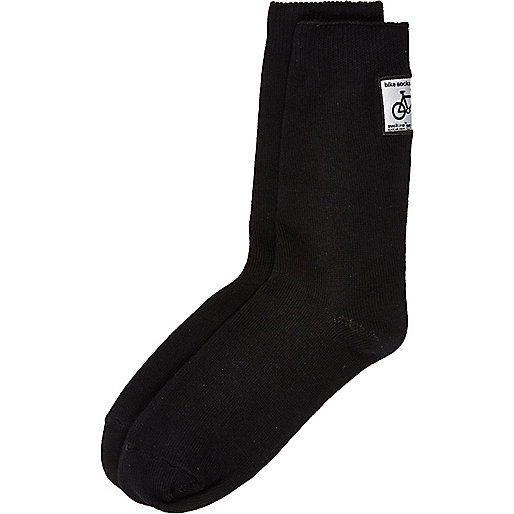 Black reflective cycling socks
