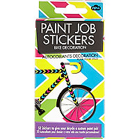 Paint job bicycle stickers