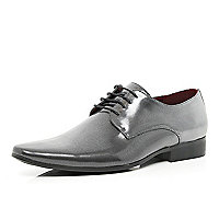 Metallic silver formal shoes