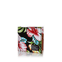 Black Hawaiian print wallet