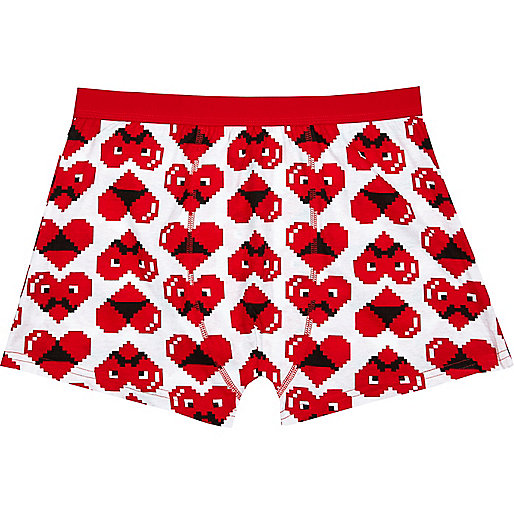 Red digital heart novelty print boxer shorts