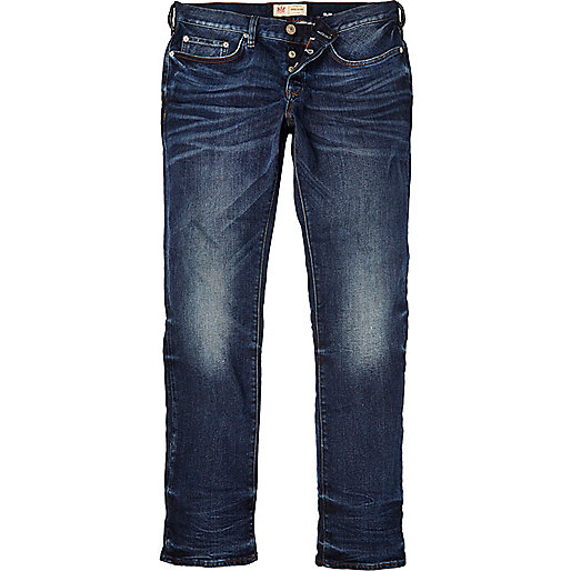 Mens Dark Wash Slim Fit Jeans