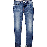 Light wash ripped Sid skinny stretch jeans